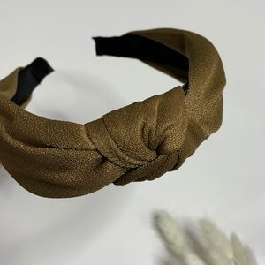 Knotted Top Wide Fabric Headband